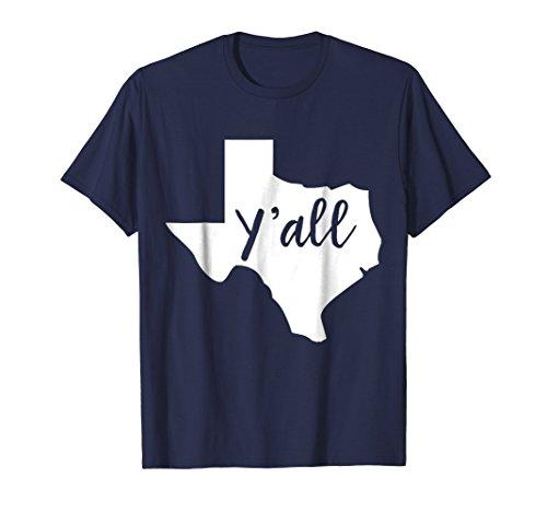 Mens Texas Home T-shirt I Love Texas The Lone Star Texas Y'all Medium Navy -