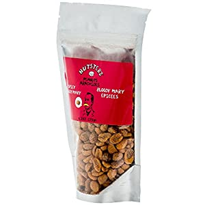 Spicy Peanuts from Nutsterz, Bloody Mary Peanuts with Real Worcestershire Sauce - Hot and Spicy Peanuts with Big Flavor, Gourmet Peanuts (2 Pack of 6.24 Ounce Bags )