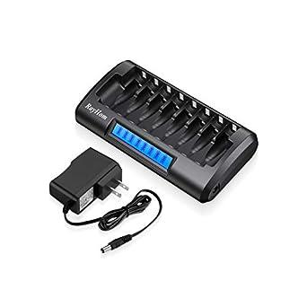 Amazon.com: rayhom 8 Slot/Bay Smart LCD Cargador de batería ...