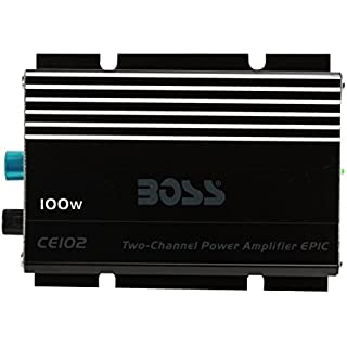 Sale Off BOSS Audio CE102 100 Watt 2 Channel 4 Ohm Stable Class A/B Full Range MOSFET Car Amplifier
