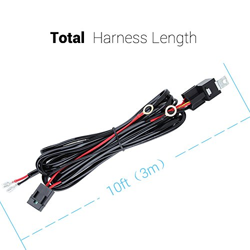 annt waterproof 3m 10ft 12v 40a off road led offroad led light bar wiring kits wiring harness