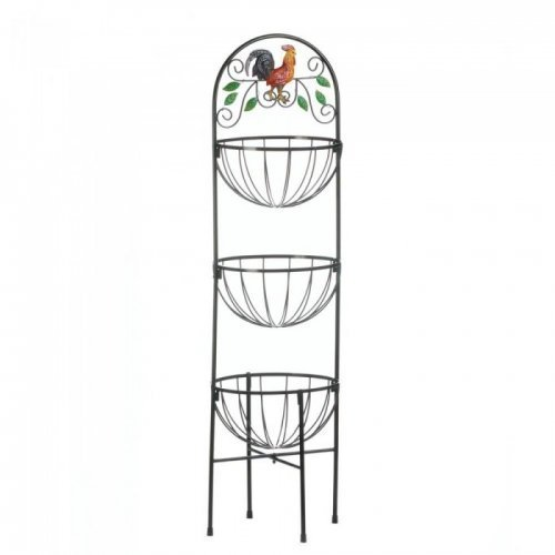 Accent Plus ROOSTER 3-TIER KITCHEN BASKET