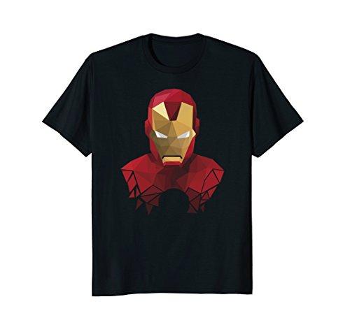 Mens Marvel Iron Man Geometric Prism Shape Art Graphic T-Shirt Small (Prism Shape)
