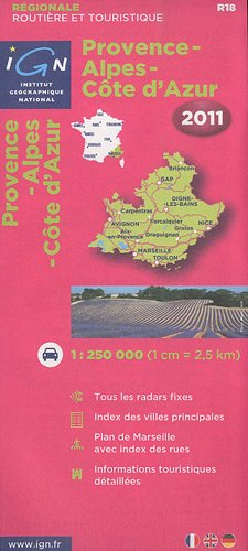 Provence Alpes Côtes d`Azur 2011. 1 : 250 000