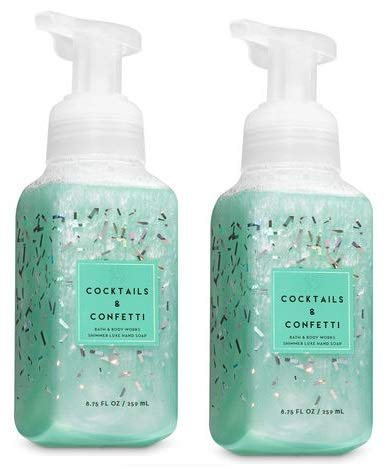 Bath and Body Works 2 Pack Cocktails and Confetti Shimmer Luxe Hand Soap 8 Oz. ()