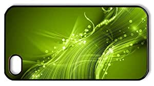 Hipster custom iPhone 4 covers green lines sparkles background PC Black for Apple iPhone 4/4S