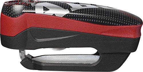 Abus Detecto 7000 RS1 pixel red - Motorcycle brake disc lock
