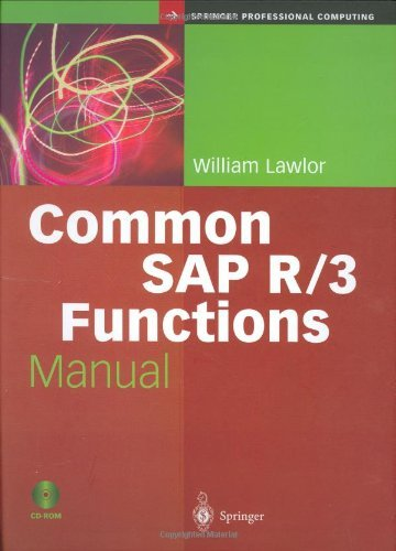 Download Common SAP R/3 Functions Manual (Springer Professional Computing) Pdf