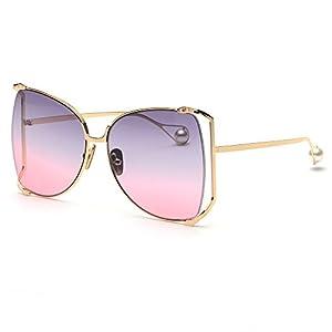 FAGUMA Fashion Oversized Semi Rimless Sunglasses For Women Brand Designer Shades