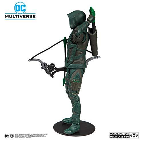McFarlane Toys DC Multiverse Green Arrow: Arrow Action Figure, Multicolor, Model: