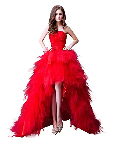 Drasawee - Robe - Taille empire - Femme rouge Red