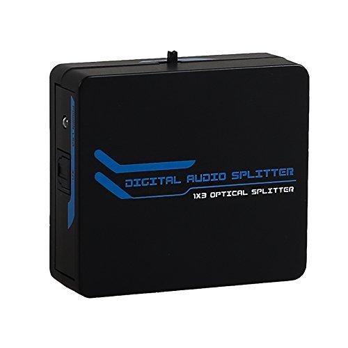 Bluesky TOSLINK Digital Optical Audio Splitter 1x3 One Input to Three Outputs (1X3 Audio splitter)