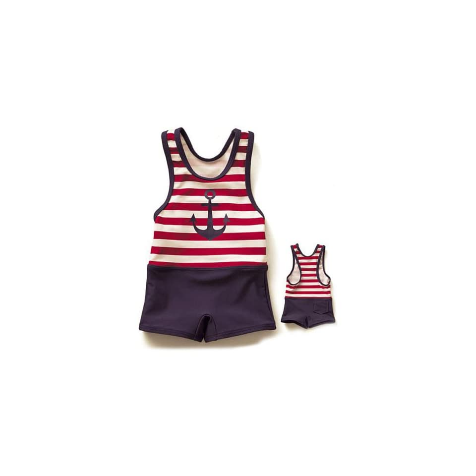 HOTER® Sailor Style Boys One Piece Swimsuits Girl Two Piece Swimsuits