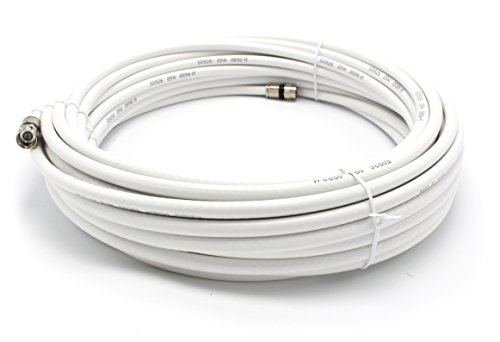 25' Feet, White RG6 Coaxial Cable (Coax Cable), Made in the USA, with Compression Connectors, F81 / RF, Digital Coax for Audio/Video, CableTV, Antenna, and Satellite, CL2 Rated, 25 Foot