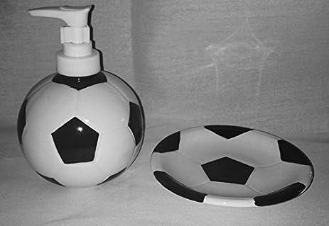 Exceptional Sports: Soccer Ceramic Stoneware Bathroom Accessories: Soap/Lotion  Dispenser U0026 Doiap Dish (