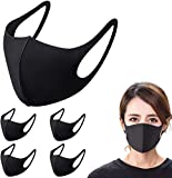 Face Mask Washable, Anti Particle Dust-Proof Anti-Pollution Face Mask, Skin-Friendly Unisex Breathable Mouth Masks, Reusable and Washable Masks for Running, Cycling, Outdoor Activities - 5 Pack