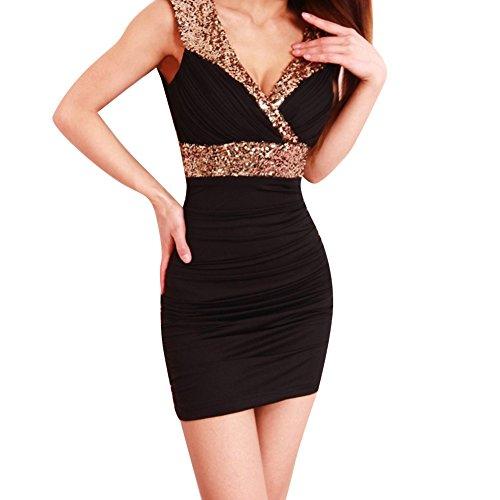 Pinkyee CLAK0234049 - Vestido Negro
