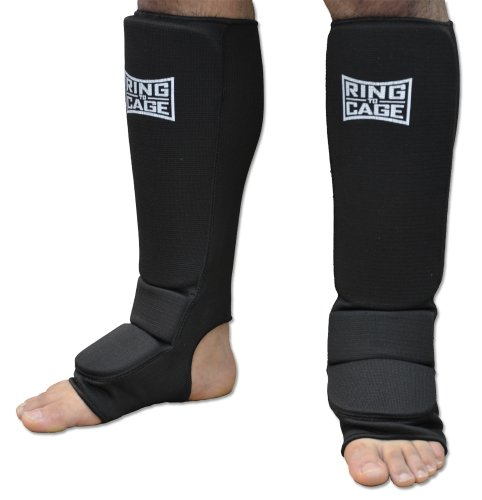Pro Slip-on cloth shin instep for Muay Thai, MMA, Kickboxing, stand up