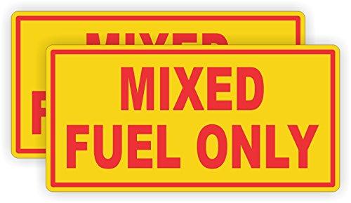 Accent Door Fuel - (Pair) Mixed Fuel Only Vinyl Decals   Stickers   Label Oil Fuel Gas Door Labels Weatherproof Chainsaw Trimmer Edger Snowblower Motorcycle 2 Stroke Cycle