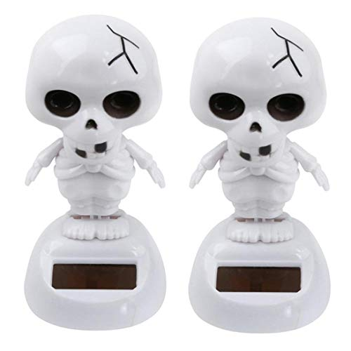 - 2Pcs Halloween Car Shaking Head Doll Dancing Halloween Swinging Animated Bobble Dancer Toy Car