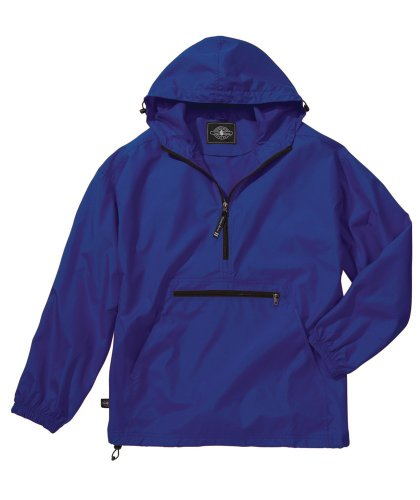 Charles River Apparel Men's Pack-N-Go Windbreaker Pullover, Royal, X-Small