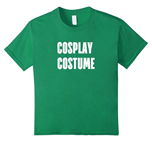 [unisex-child Cosplay Costume T-Shirt--Dress Up the Easy Way for Comicon 8 Kelly Green] (Cosplay Costumes For Boys Kids)