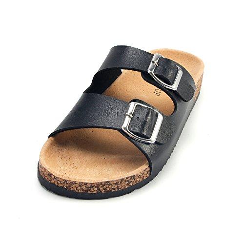 SANDALUP Unisex Adjustable Double Buckle Flat Sandals