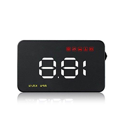Vehicle Speed Head-up Display HUD OBD2/EUOBD Interface Plug & Play Speedometer Overspeed Alarm Windshield Project