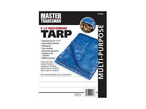 ZHEJIANG DEQING RUIDE INDUSTRIAL 6 X 8 Blue Series MT 6x8 BLU Tarp Cover MT 6 X 8 BLUE