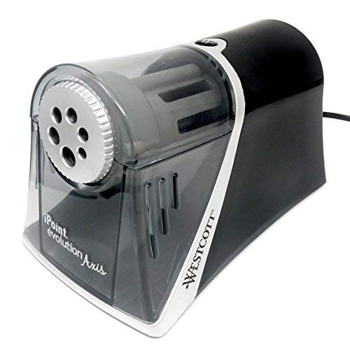 Westcott - iPoint évolution Axis - Auto-Stop Electric Desktop Pencil Sharpener with UK Plug - Carbon Steel Blades by Westcott (Image #4)