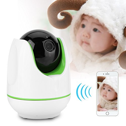Video Baby Monitor,Fosa 720P HD WiFi Wireless Home Remote Security Camera Night Vision IR-Cut P/T Webcam(White) by fosa