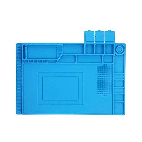 (Soldering Mat, Silicone Soldering Stations Magnetic Heat Resistant Insulation Welding Pad Phone Repair Mat Maintenance Platform Heat Work Pad for BGA Soldering Iron, Computer Watch Repair -18X12 in )
