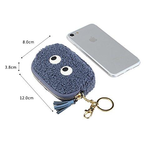 Genfien Mini Wallet Geldbörse Geldbeutel Schlüssel Tasche Handtasche Kleingeldfach Schlüsselanhänger Kleingeldfach Geldbeutel Kartenetuis für Damen 5: Blau