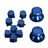 Timorn Replacement Parts Aluminum Metal Thumbsticks D-Pad Bullet ABXY Buttons Mod Kit for Playstation 4 PS4 Controller