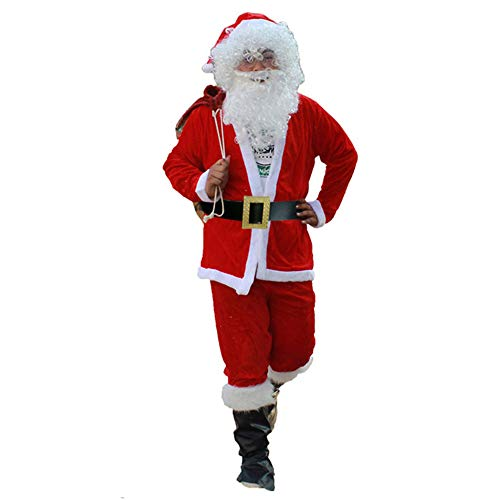 Deluxe Luxury Santa Suit - XINYU Luxury Santa Claus Costume Men Christmas Cosplay Outfit Costume,Soft and Comfortable Gold Velvet Fabric,Suitable for Holiday,Christmas Party,Birthday Gifts,A-XL