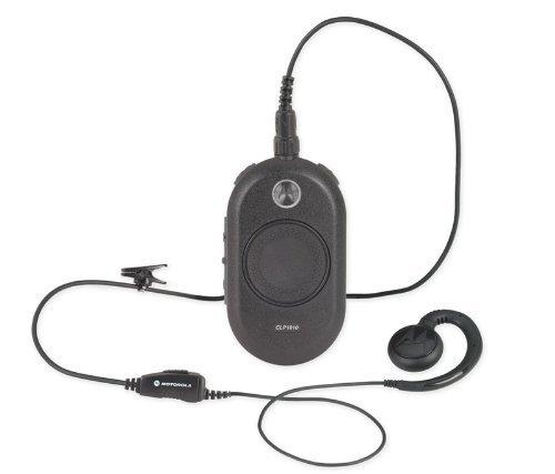 UHF 1 Watt 1 Channel Radio with Motorola HKLN4455 Headset Black Motorola CLP1013