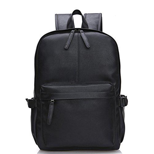Black Faux Leather Backpacks: Amazon.com