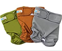 Reusable Washable Dog Diapers (3 Pack) - Durable Dog Wraps for both Male and Female Dogs - Premium Quality