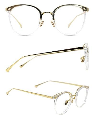 TIJN Vintage Optical Eyewear Non-prescription Eyeglasses Frame with ...