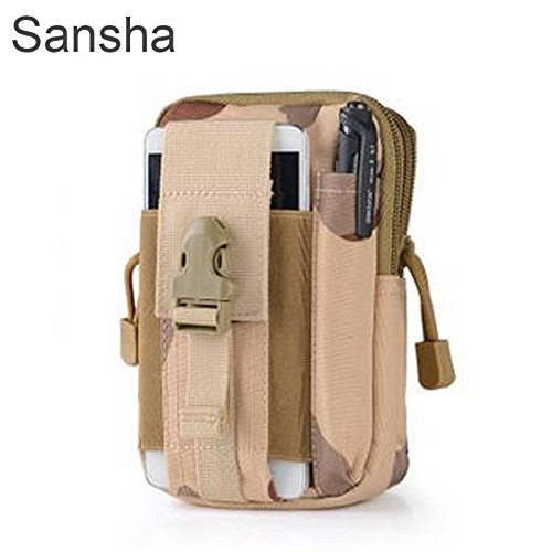 Tactical Molle bag Pouch Belt Waist Packs Bag Pocket Military Waist Pocket for Iphone 6 6s 5s for Samsung Galaxy S6 (Jacket Face North The Supreme)