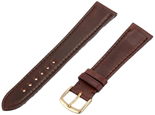 Hadley-Roma MS2050RC 190 19.0mm Dark Brown Horween Shell Cordovan Leather Watch Strap