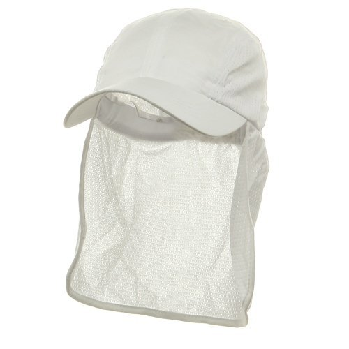 Flap Hats (01)-White OSFM (E4hats Cotton Flap Hat)