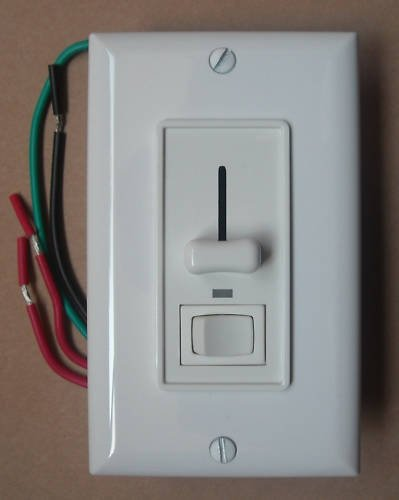 Single Pole / 3 WAY Slide Dimmer Switch with LED Indicator Night Light - White