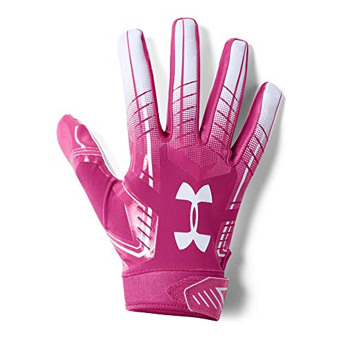 Under Armour Men's F6 Football Gloves, Tropic Pink (654)/White, -