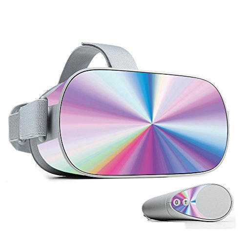 MightySkins Skin for Oculus Go Mobile VR - Rainbow Zoom | Protective, Durable, and Unique Vinyl Decal wrap Cover | Easy to Apply, Remove, and Change Styles | Made in The USA