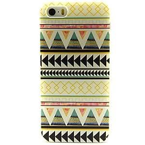 WQQ triangular patrón de líneas tribales de la PU cuero caso de cuerpo completo con ranura para tarjetas y soporte para el iPhone 5 / 5s