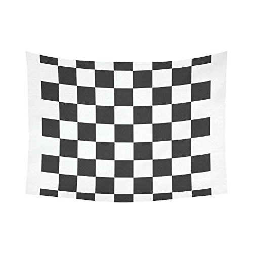 Checker Cotton Dress - JC-Dress Wall Tapestry Checkerboard Cotton Linen Tapestries Hanging 60x80
