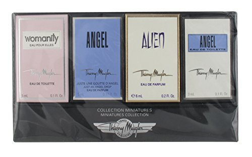 Thierry Mugler Miniatures Collection 4 Piece Mini Gift Set for (4 Piece Miniature Set)