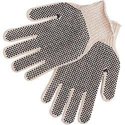 (12 Pair) Memphis 9660XLM Regular Weight String Knit 2-Sided PVC Dots, Size XL ()