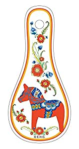 Essence of Europe Gifts Red Dala Horse Mini Spoon Rest Magnet